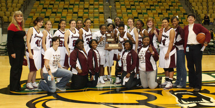 Jennings High School Womens Basketball State Champs 2010