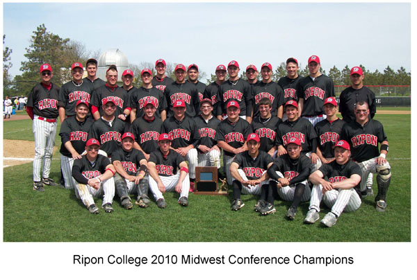 Ripon College 2010 Midwest Conference Champs
