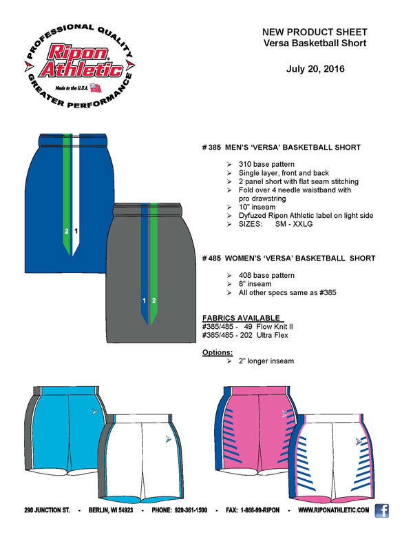 385-485 VERSA BASKETBALL SHORTS