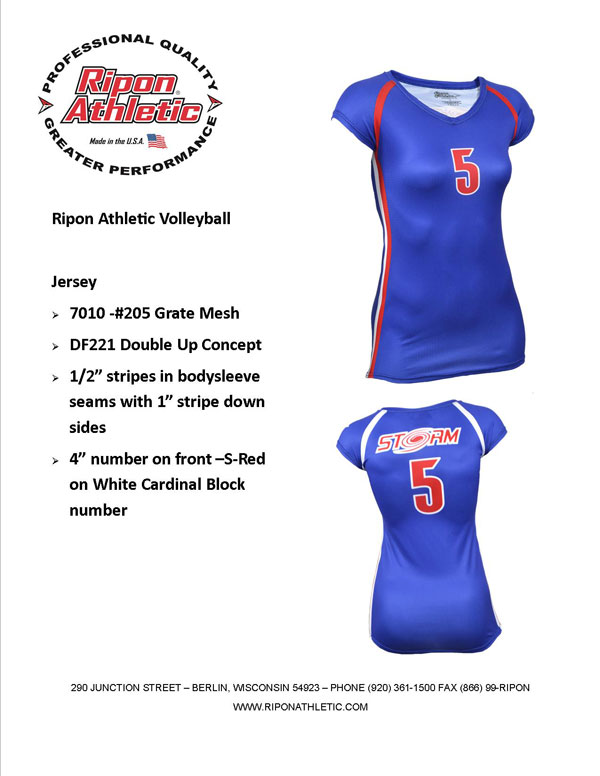 7010-DF221 Double Up Volleyball Jersey