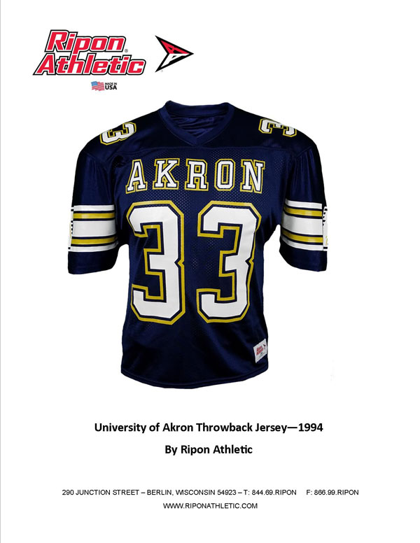 University of Akron Throwback Jersey 1994